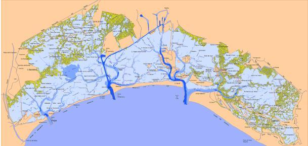 Cartina Laguna Di Venezia.Laguna Di Venezia